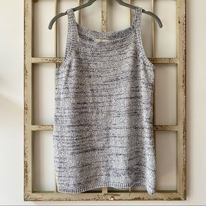 Loft Heather Gray Sweater Knit Sleeveless Tank